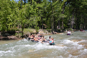 Enjoy the Fun Rapids on the Horseshoe Loop!  Guadalupe River Tubing in Canyon Lake, Texas!